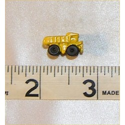 TOY DUMP TRUCK, YELLOW