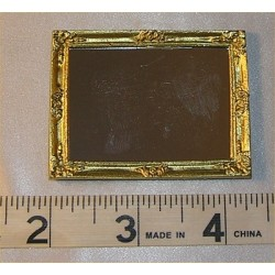 MIRROR,LG RECT, GOLD COLOR