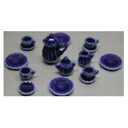 17PC DINNER SET-COBALT BLUE